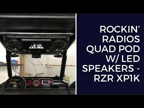 Rockin' Radios Quad Pod w/ LED Speakers - RZR XP1K