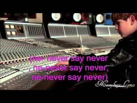 Mattybraps Raps Never Say Never By Justin Bieber (Lyrics ON SCREEN)