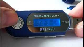 MP3 Player USB FM voice recorder. Меню .