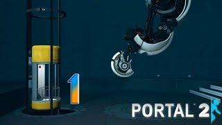 Portal 2 прохождение на геймпаде [60 fps] часть 1 Пробуждение тёти Глэдос