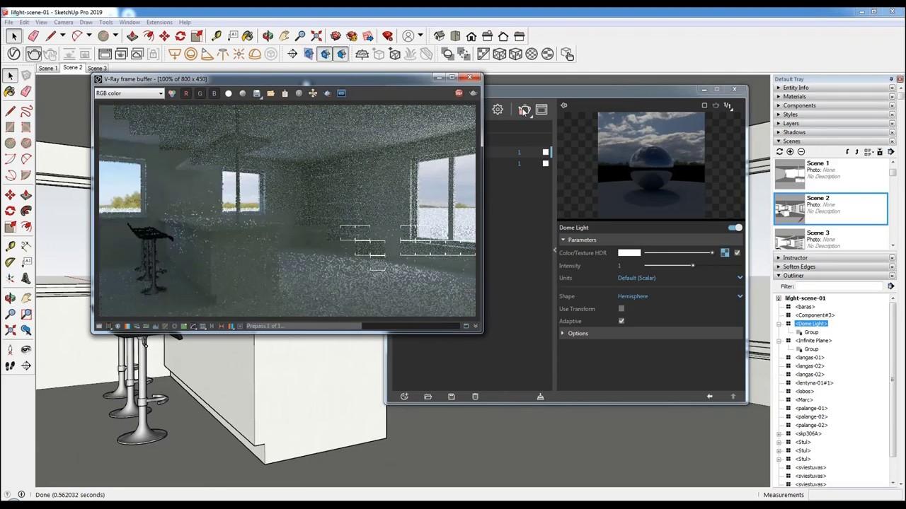 V-Ray Next for SketchUp – Apšvietimo technologijos