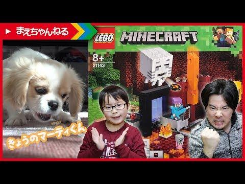 寸劇あり!【レゴ マインクラフト】闇のポータル LEGO MINECRAFT THE NETHER PORTAL 21143 / 今日のマーティ君 #27 | まえちゃんねる