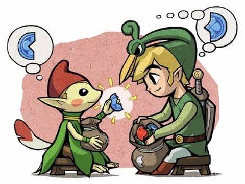 Zelda Minish Cap Rompiendo Rocas Con Los Goro Piedras De La Suerte Youtube