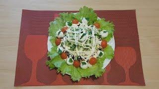 Салат с куриной грудкой и черносливом