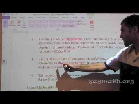 Statistics - Binomial Distributions