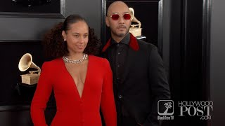 Alicia Keys and Swizz Beatz the GRAMMYS Red Carpet