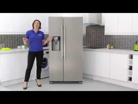 haier hrf 628if6 2 door side by side american fridge freezer youtube. Black Bedroom Furniture Sets. Home Design Ideas