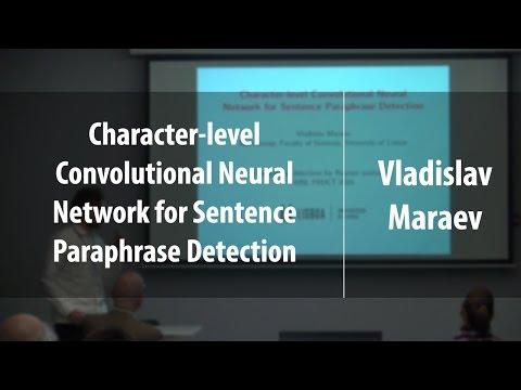 Character-level Convolutional Neural Network for Sentence Paraphrase Detection