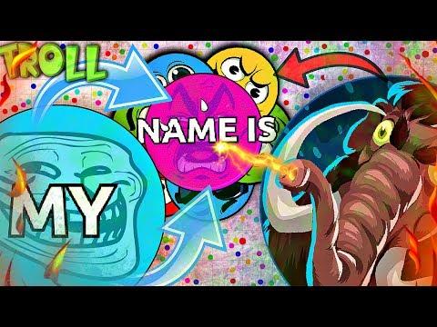 "Agar.io TROLLING ""MY NAME IS... v2"" in Agario    Agar.io FUNNY MOMENTS"