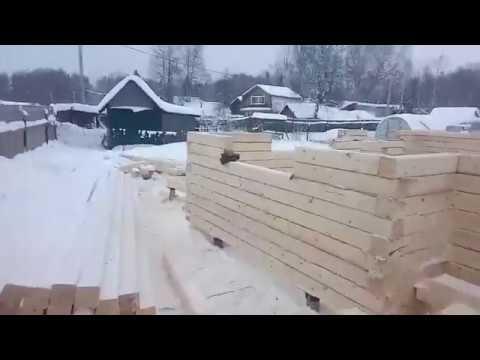 Монтаж дома в теплый угол из обычного бруса - Русский Домъ