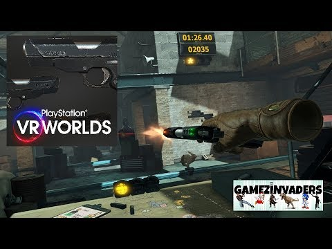 VR WORLDS! Virtual Reality Shooting Gallery!!! PS4 Playstation PSVR