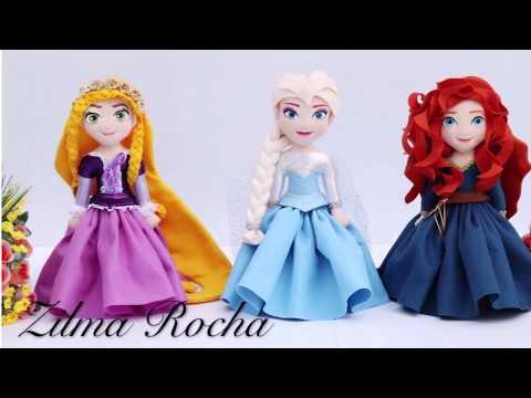 Princesas - Moldes e Passo a Passo