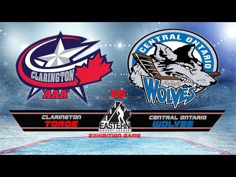 Exhibition Game Clarington Toros Novice AAA vs Central Ontario Wolves Aug 27 17