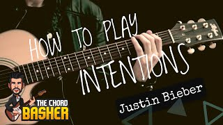 Intentions Justin Bieber Guitar Tutorial Acoustic Version