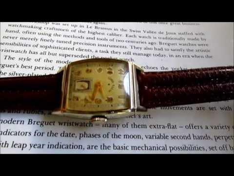 Lord Elgin vintage wristwatch 1938s