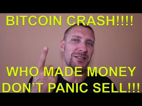 Who Made Money When Bitcoin Crashed!!! NEVER PANIC SELL STAY CALM