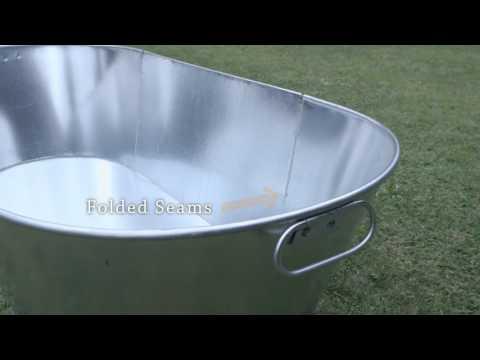 Sherpa Galvanised Tin Baths   YouTube
