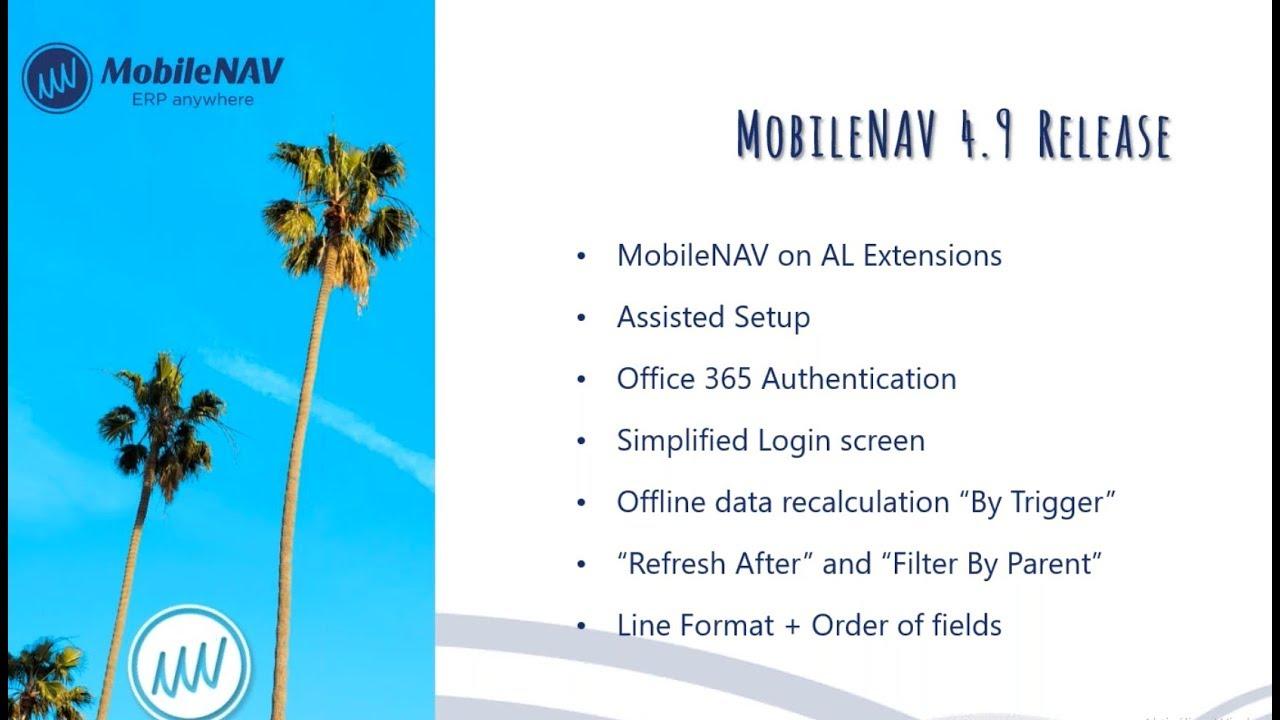 MobileNAV Webinar: Release 4.9
