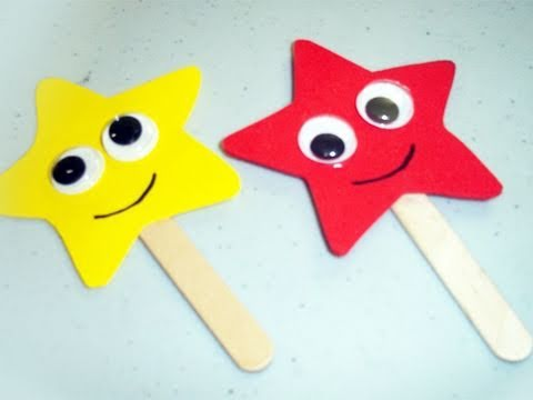 How to make foam star bookmarks - EP - simplekidscrafts - simplekidscrafts