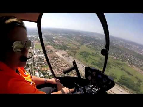 Robinson R22 Flying Around Pretoria East