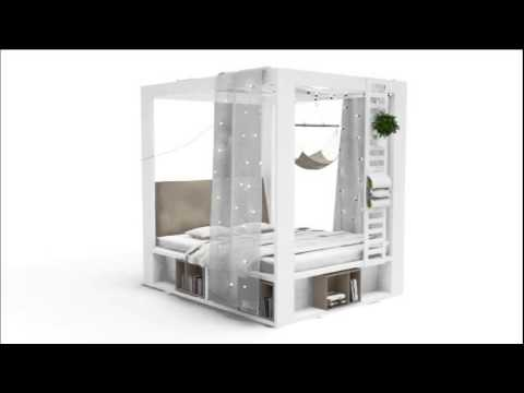 lit a baldaquin 4you 160x200 youtube. Black Bedroom Furniture Sets. Home Design Ideas