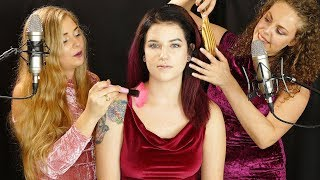 Megan In Middle! Hair Brushing, Pampering, ASMR Girls Club w/ Corrina & Madison
