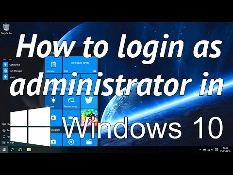 How to unlock and login as the built in administrator in windows 10