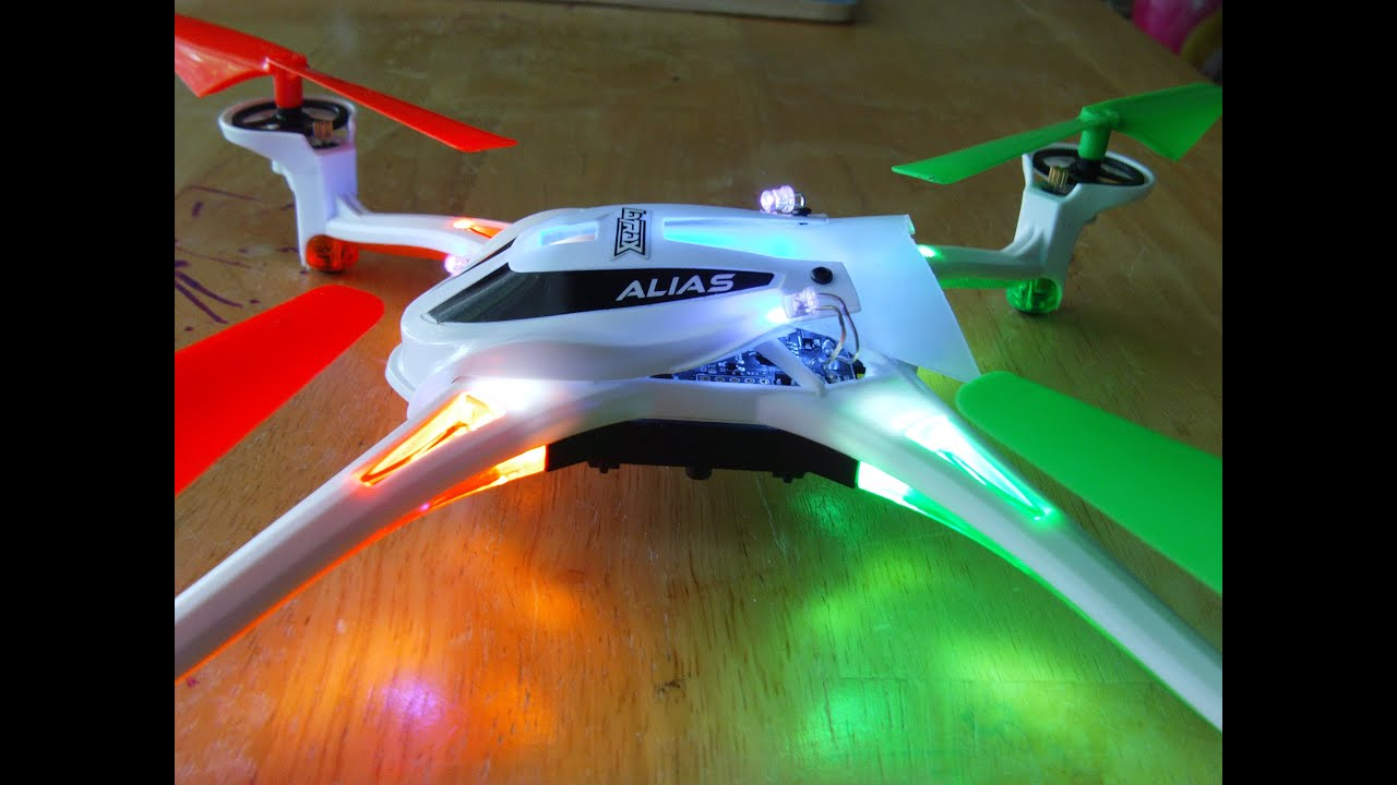 Customized Latrax Alias quadcopter with ultraviolet led s Price dropped $50 00