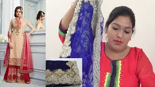 Designer Embroidery Plazzo Salwar Kameez ll Online Shop ll 1 May  2018