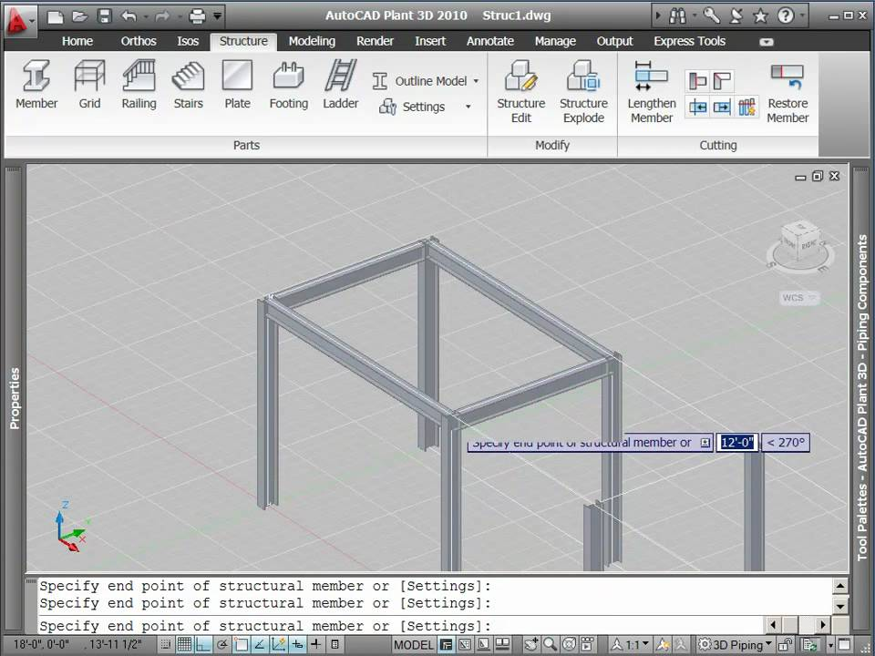autocad plant 3d tutorial how to create structural objects youtube autoplant 3d - Autoplant 3d