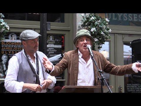 BLOOMSDAY 2017 Patrick Fitzgerald w/Colum McCann Read James Joyce's Ulysses 6/16/17