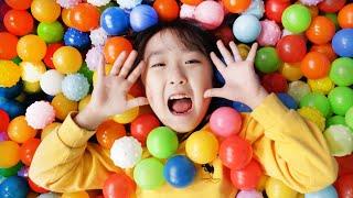 컬러송 인기동요 Learn Colors With Balls CoComelon Finger Family Song Nursery Rhyme-마슈토이 Mashu ToysReview