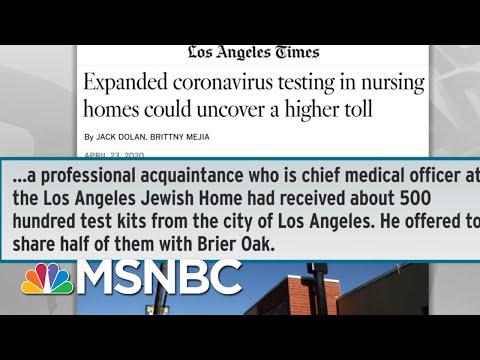 Thorough Testing Reveals Surprising Extent Of Coronavirus Spread | Rachel Maddow | MSNBC