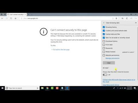 Solved: Can't Connect Securely To This Page IE11 Or Microsoft Edge In Windows 10 [FIX]