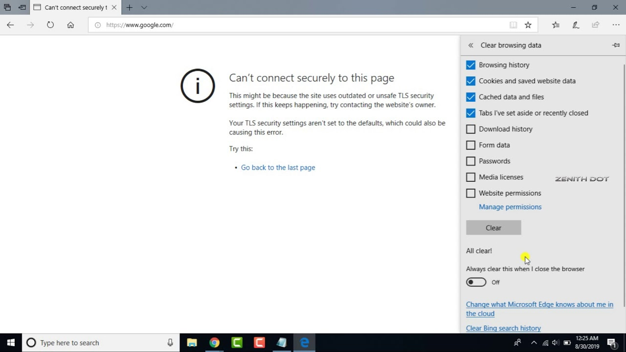 How To Fix Microsoft Edge Error Code Inet E Download Failure In Windows 10 By Processing Brains