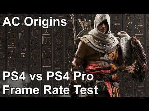 Assassin's Creed Origins PS4 vs PS4 Pro Frame Rate Test