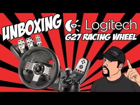 unboxing logitech g27 racing wheel volante g 27 funnycat tv. Black Bedroom Furniture Sets. Home Design Ideas