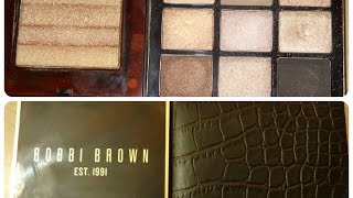 Bobbi Brown Warm Glow Eye Palette + Shimmer Brick Compact Copper Diamond- FIRST IMPRESSIONS!