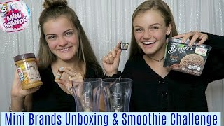 Mini Brands Unboxing & Smoothie Challenge Jacy and Kacy