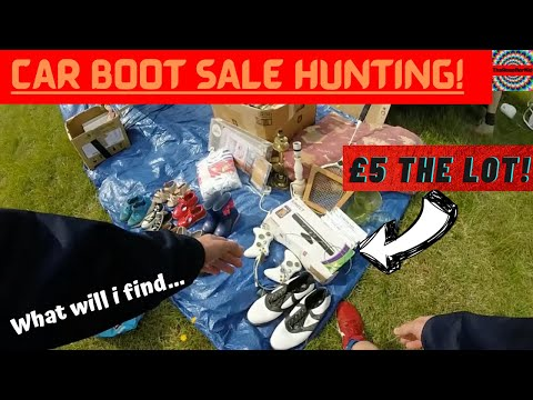 Car Boot Sale Profit Hunting | £5 THE GAMING LOT! | GoPro Footage | What Will I Find... | Episode 23