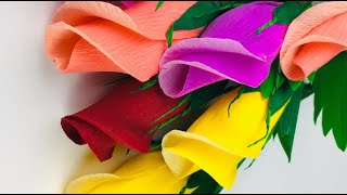 Lockdown Fun Activity | Easy Paper Flowers | Making Paper Flowers Step By Step | paper Rose Ideas