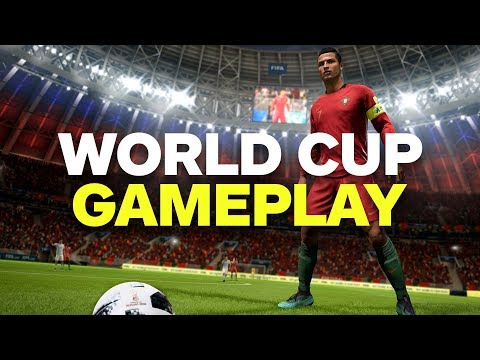 A Full Match of FIFA 18 World Cup Update Gameplay