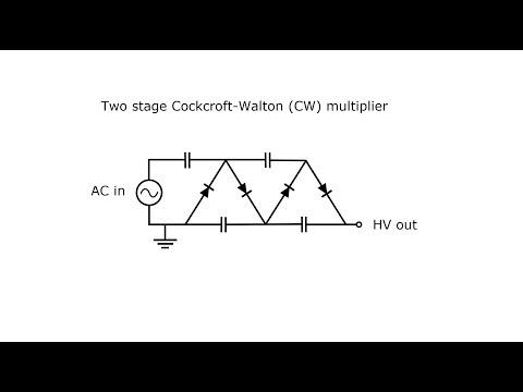 Cockcroft-Walton (CW) voltage multiplier (Part one: 40 kV)
