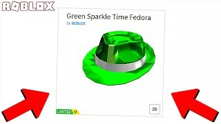 ICH GOT THE GREEN SPARKLE ZEIT FEDORA! *SUPER RARE* (Roblox)