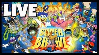 SUPER BRAWL GAMEPLAY - LIVE SUPER BRAWL GAMEPLAY - SPONGEBOB, POWER RANGERS VERSUS GAME