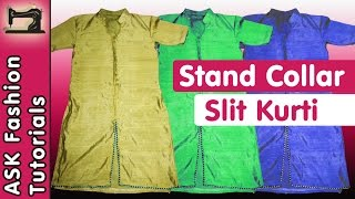 Front Slit Kurti with Stand Collar | Step by Step Guide | In Hindi