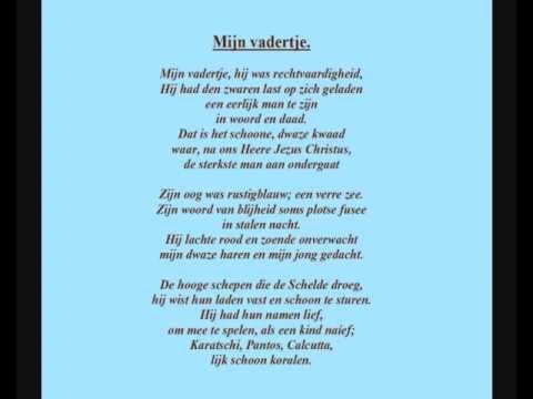 Marnix Gijsen 1899 1984 Gedicht Mijn Vadertje Geluidsfragment Uit 1975