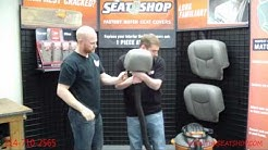 How to Install a Headrest Cover - Auto Upholstery