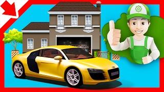 Handy Andy karikatür. Araba onarım araba Karikatür. Araba yıkama oyunu Araba tamirhanesinde Karikatür