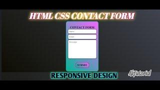 HTML & CSS İletişim Formu Oluşturma - Ak Öğretici